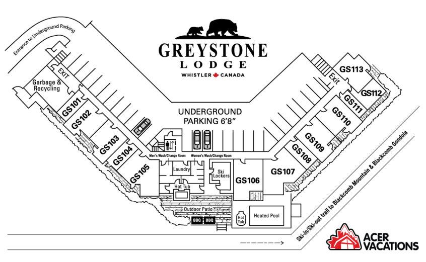 Floor 1 - Greystone Lodge