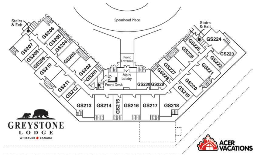 Floor 2 - Greystone Lodge